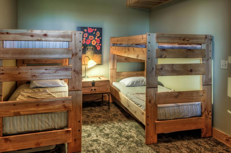 Bunk beds in lower level bedroom.