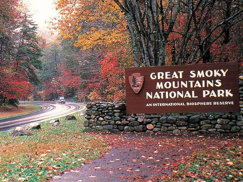The Great Smoky Mountains National Park in Autumn.