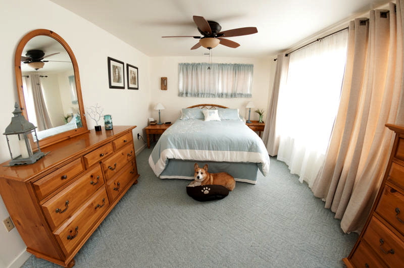Master Bedroom with Queen bed (cute doggie not included)