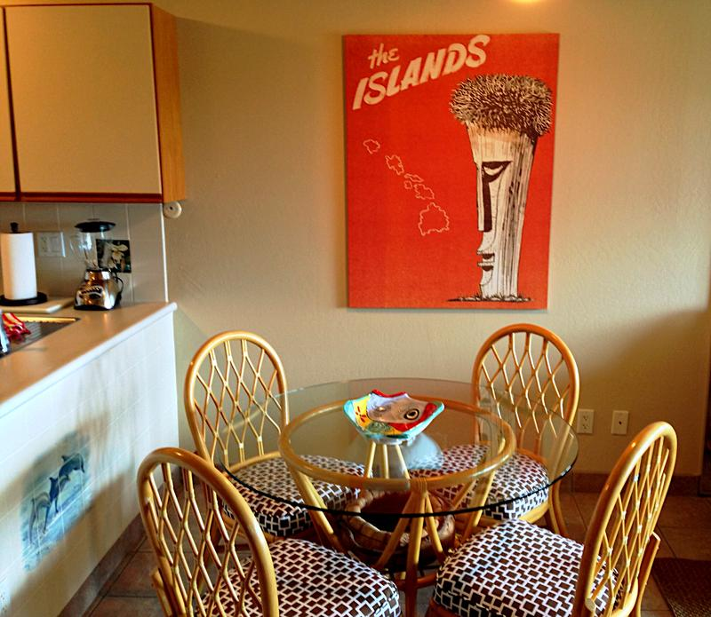 Comfortable dining area - great for a home cooked meal or local take-out!