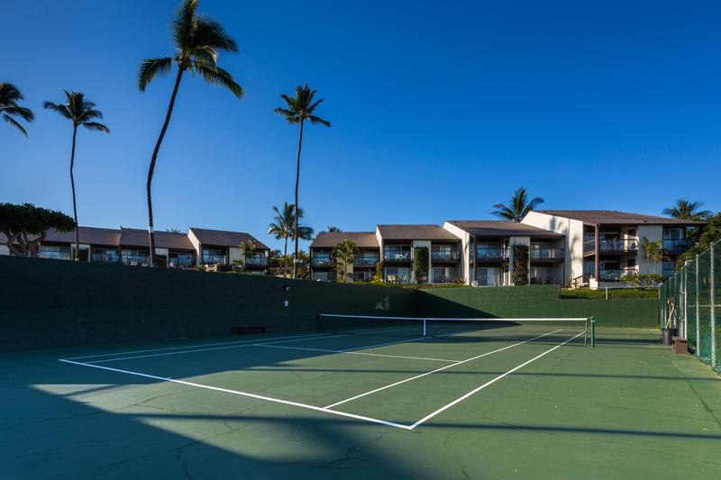 Full-size tennis court to get your game on!