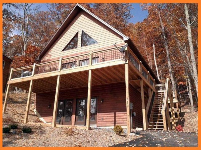 Fall- Newly constructed home, offers views of the moutain ridge.