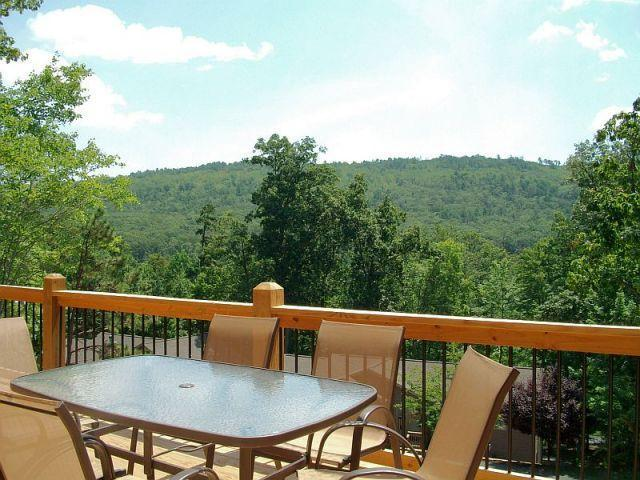 Enjoy the mountain views from the deck!