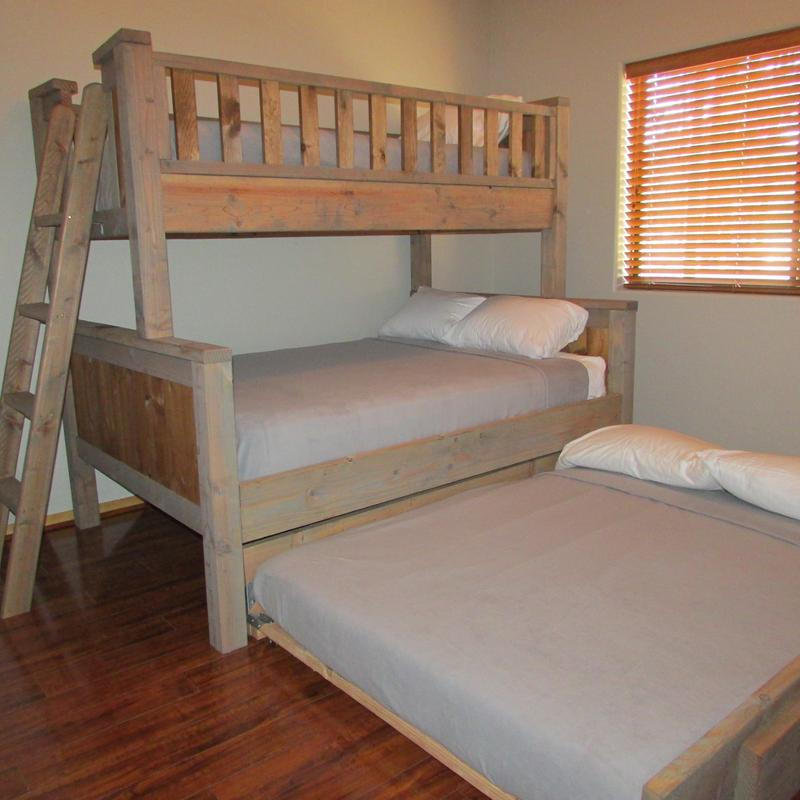 "Bedroom #3 sleeps 5 - twin over full with full trundle w/32"" TV"