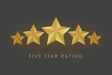 375 Five Star reviews