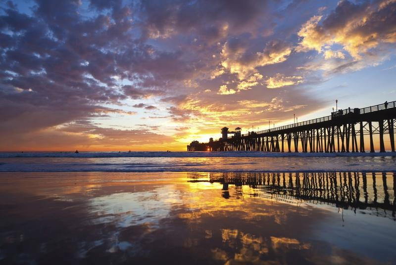 Sunset at the Oceanside Pier California travel guide stunning sunsets that will make you want to visit the West Coast