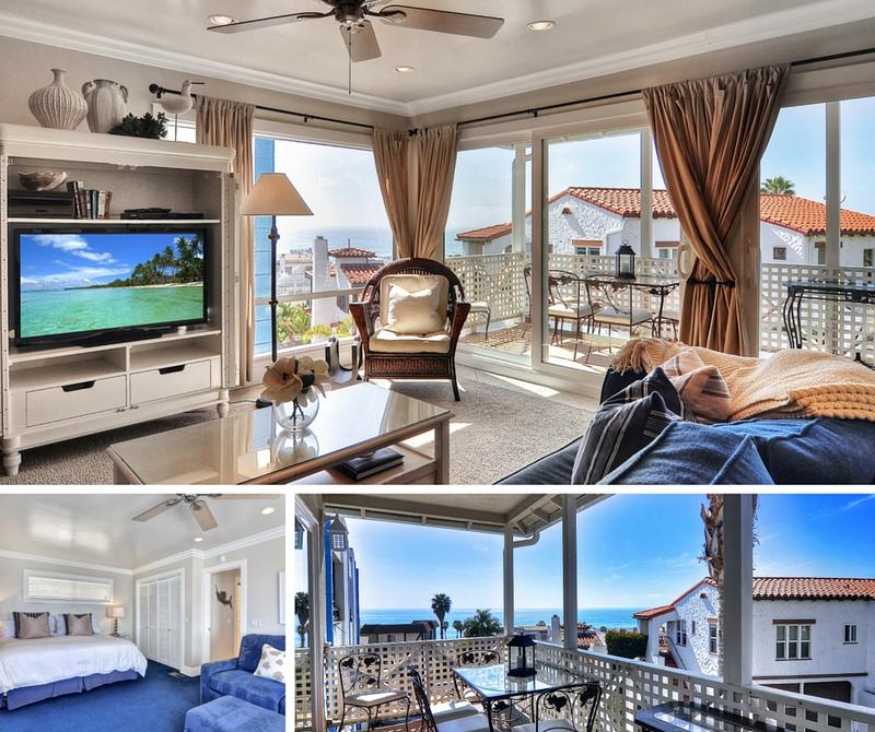 Monterey A family friendly ocean view vacation rental condo in Pier Bowl San Clemente perfect for family California lodging living room master suite and balcony