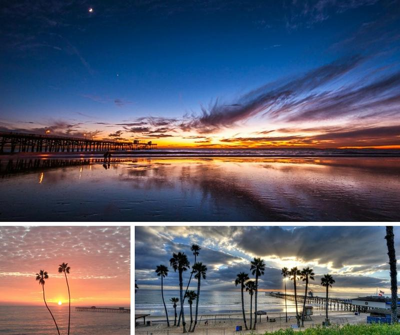 California travel guide stunning sunsets at the San Clemente pier
