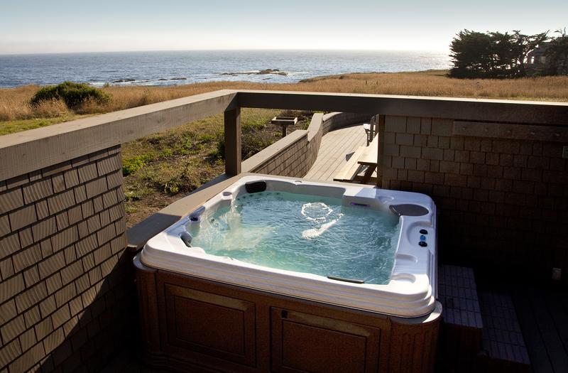 Soak in the 50-jet spa hot tub while looking for whales (spring and late fall).