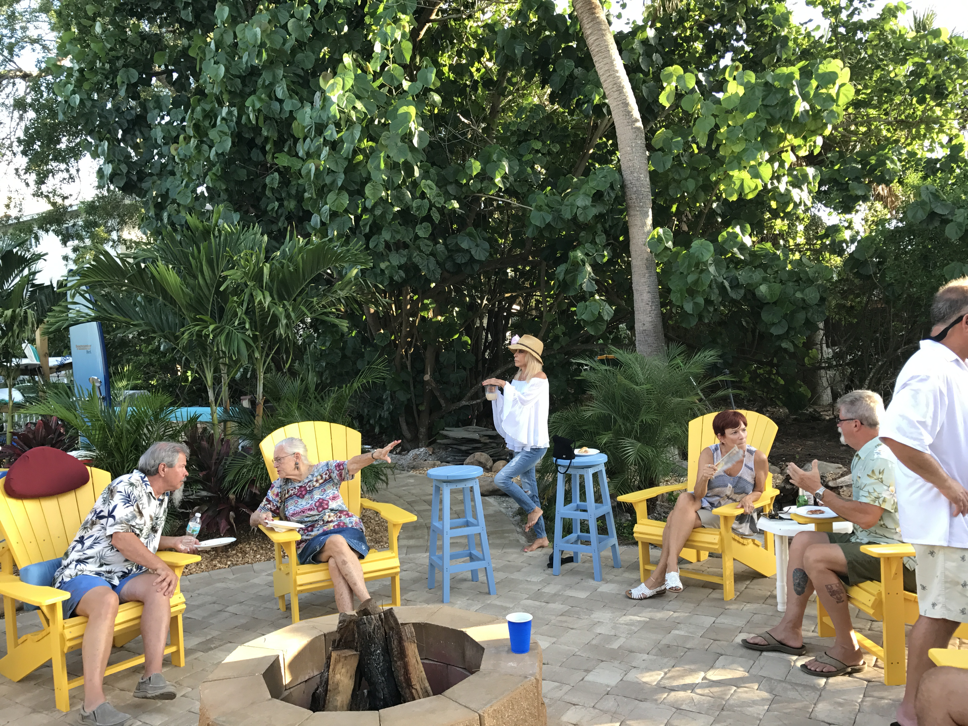 firepit and chairs in Manasota Key