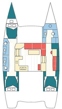 2016 Helia Catamaran yacht charter vacation cockpit layout