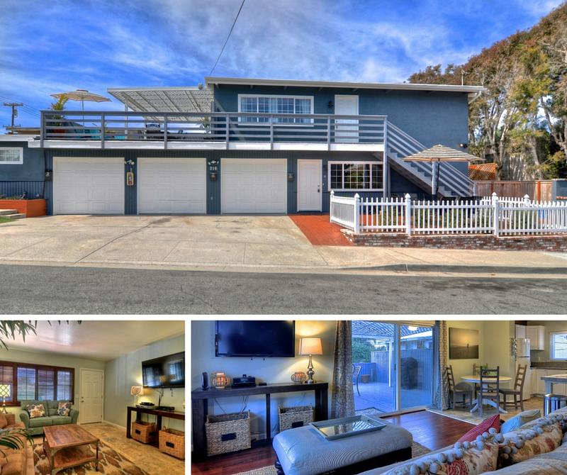 Acacia A and B family friendly vacation rentals near the beach in Carlsbad California exterior Unit B living room Unit A living room