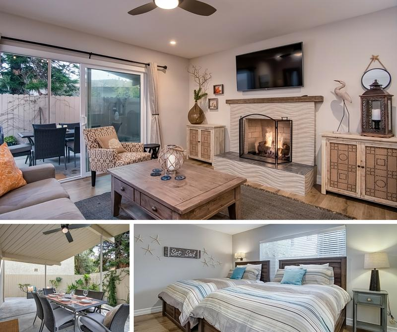 Hideaway A family friendly vacation rental near the beach in San Clemente living room outdoor dining bedroom