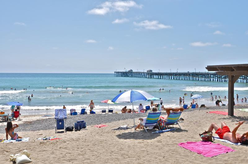 Local San Clemente beach at the pier