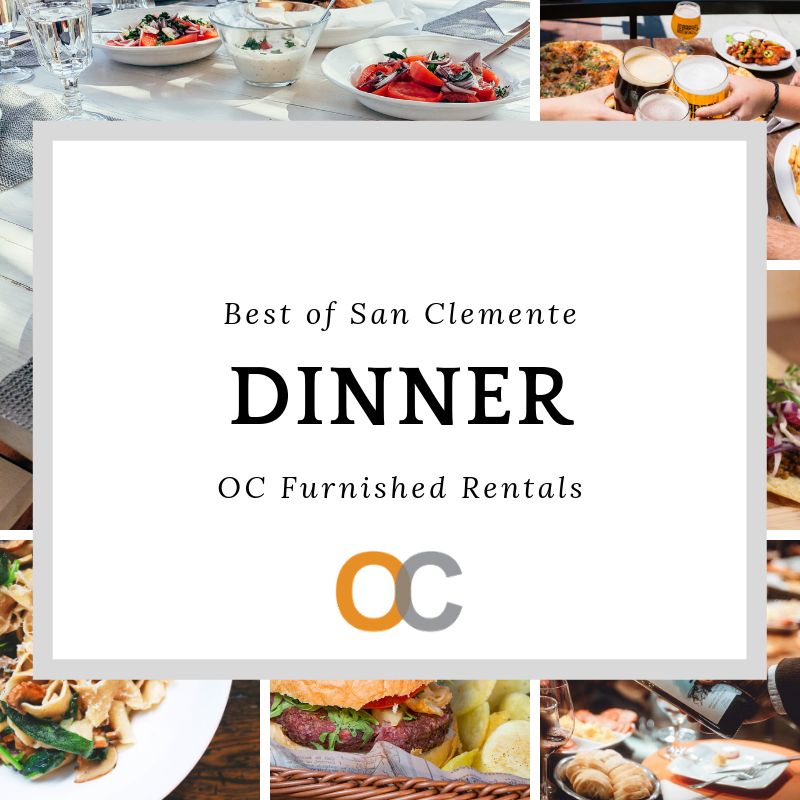 California travel guide best of San Clemente top spots for an amazing dinnger
