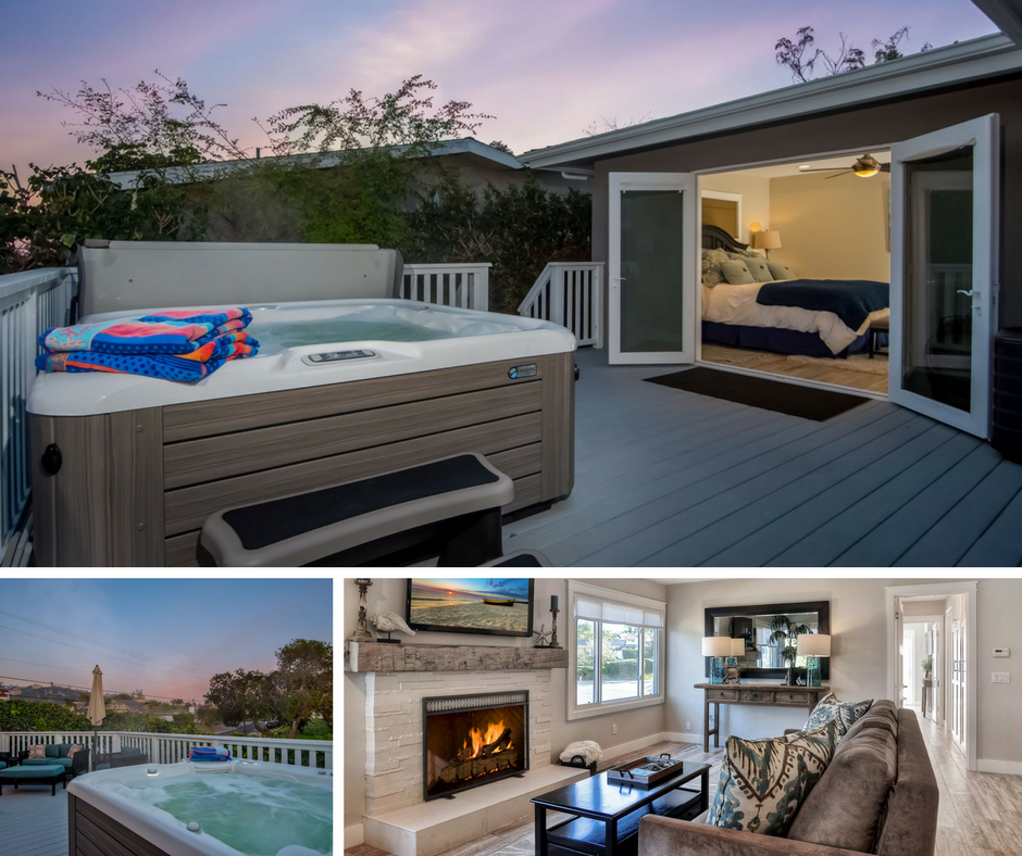 Ola Vista San Clemente vacation rental with hot tub