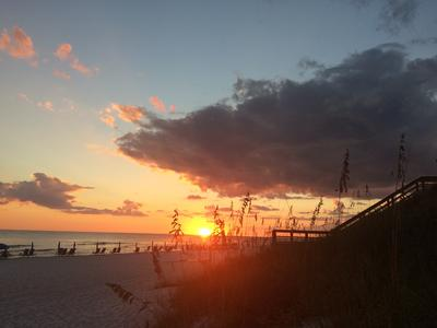 sunset on dune allen beach santa rosa beach florida sea oats