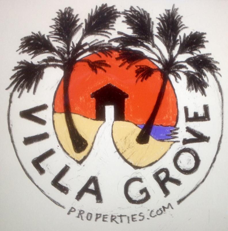 Picture of Villa Grove Properties logo with beach and palm trees