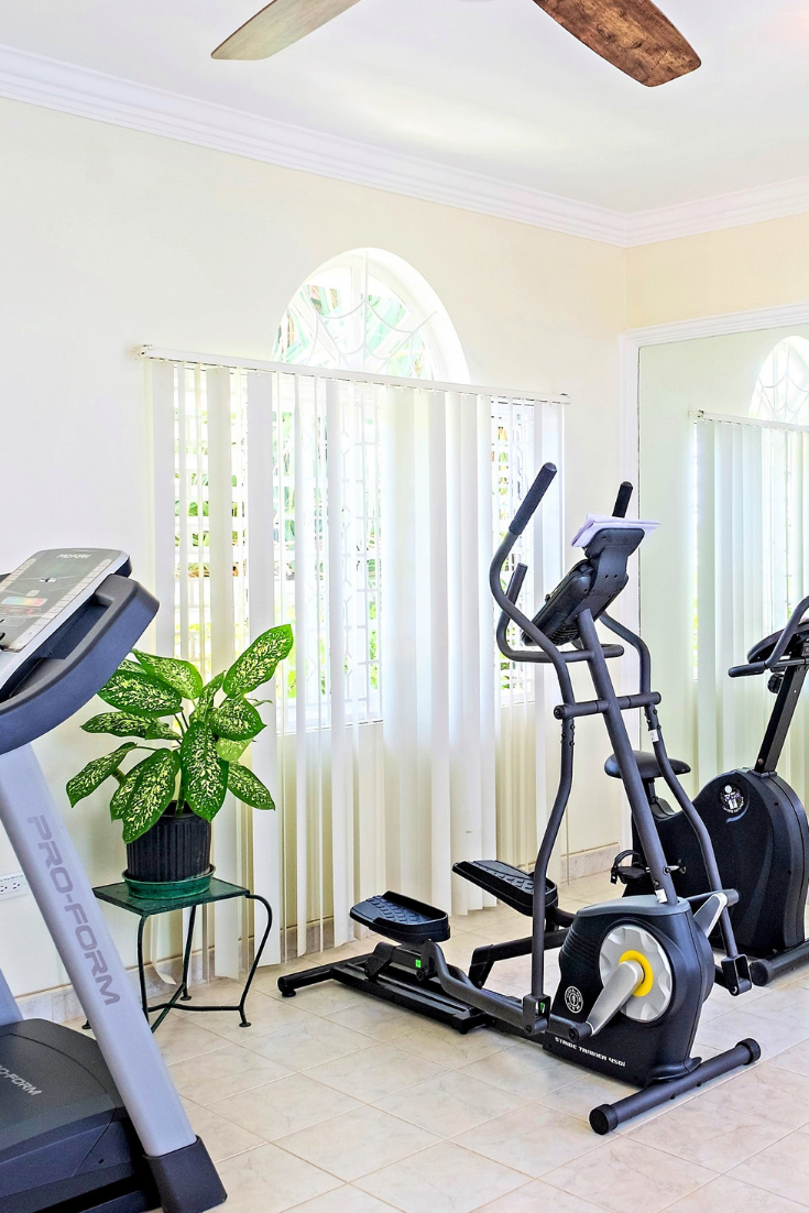 Gym in Jamaica at Mais Oui Villa