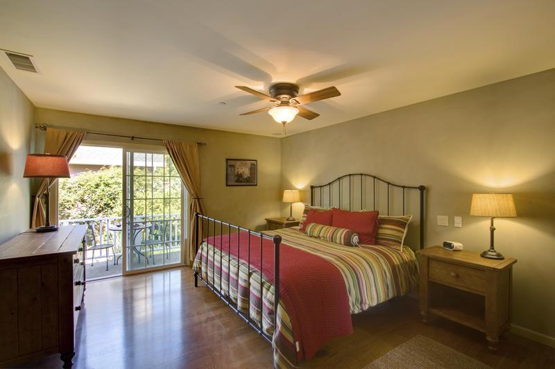 Master bedroom has a king bed with a premium mattress.