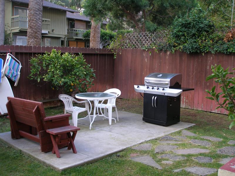 Back Yard with Grill and Sitting Area